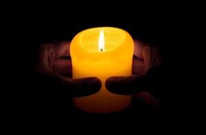 Kerze - Gebet - Glaube - Frieden